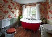 Wallpaper-freestanding-claw-foot-bathtub-add-brilliant-red-overtone-sto-the-modern-farmhouse-bathroom-91366-217x155