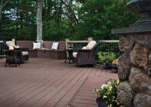 Picture of beautiful backyard decks and patio