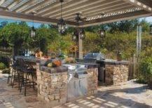 gorgeous backyard kitchen design