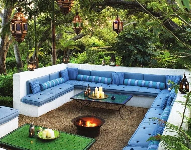 outdoor backyard patio design idea