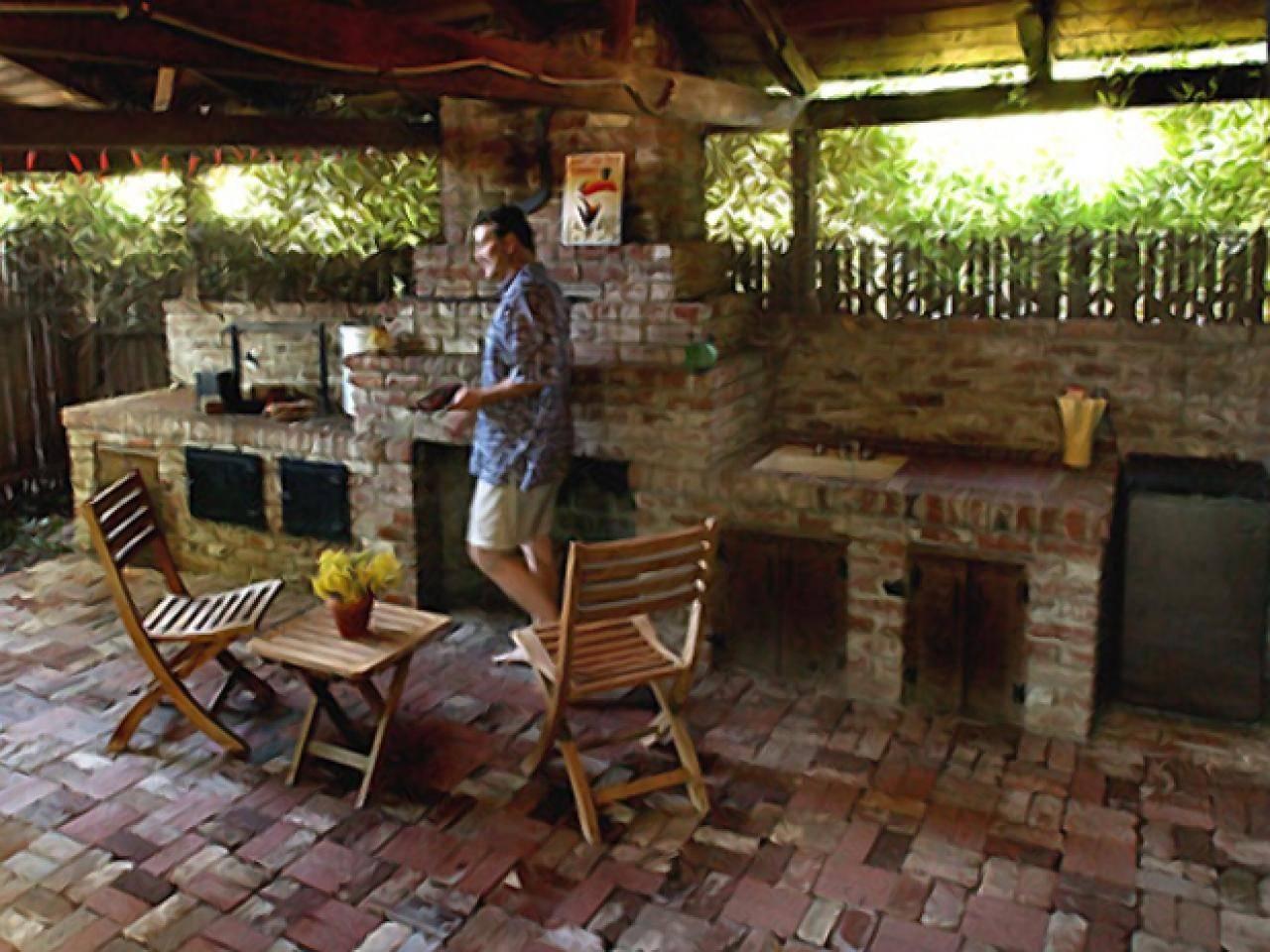 designing an outdoor kitchen.
