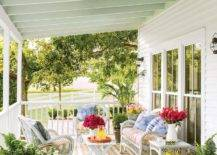 front porch with flowers