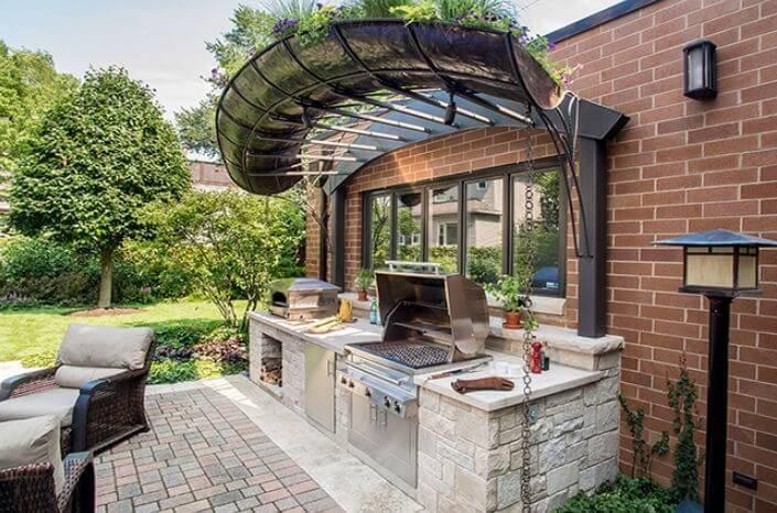 Outdoor kitchen designing idea