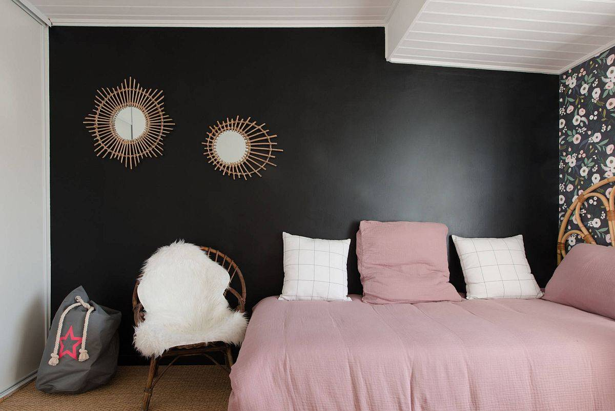 Add a bit of black magic to the space-savvy teen bedroom