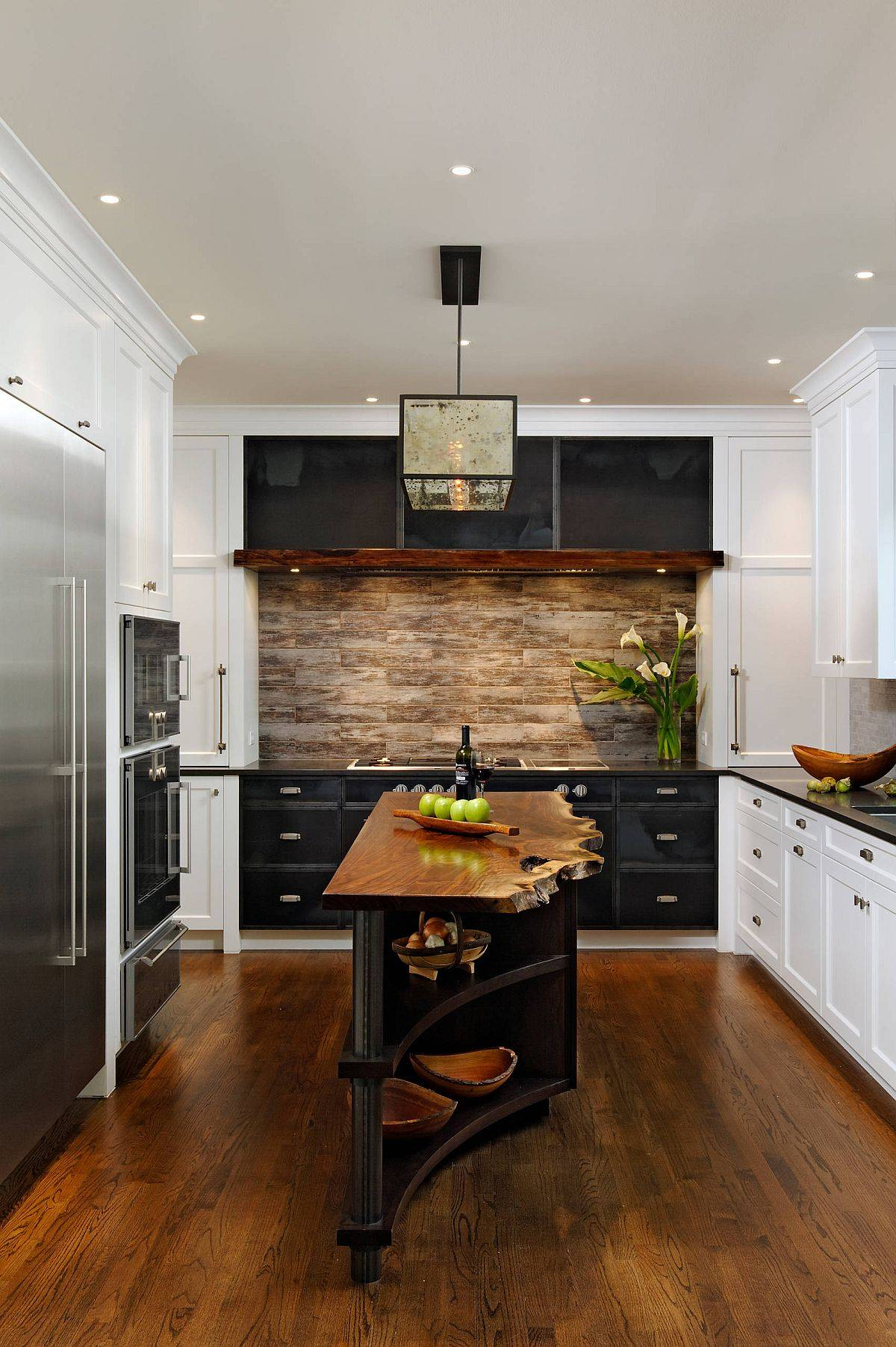 Beautiful-rustic-industrial-kitchen-with-a-central-island-that-features-a-beautiful-live-edge-wood-counter-95277