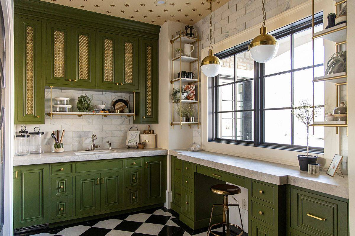 Classic-white-and-green-kitchen-with-warm-yellow-ceiling-is-perfect-for-fall-the-holidays-and-beyond-96266