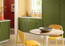 Gorgeous-green-cabinets-coupled-with-yellow-in-the-midcentury-modern-kitchen-with-a-pedastal-dining-table-83254-217x155