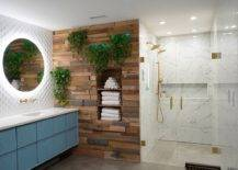 Gorgeous-modern-Scandinavian-bathroom-with-accent-wooden-wall-and-lovely-back-lit-mirrors-34742-217x155
