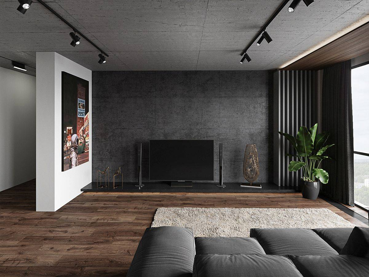 Gorgeous-shades-of-gray-including-graphite-and-black-shape-this-pollished-apartment-in-Kiev-97212