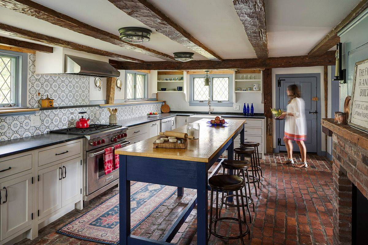 Low-ceiling-of-this-restored-farmhouse-kitchen-with-modern-touches-adds-something-special-to-the-setting-63895