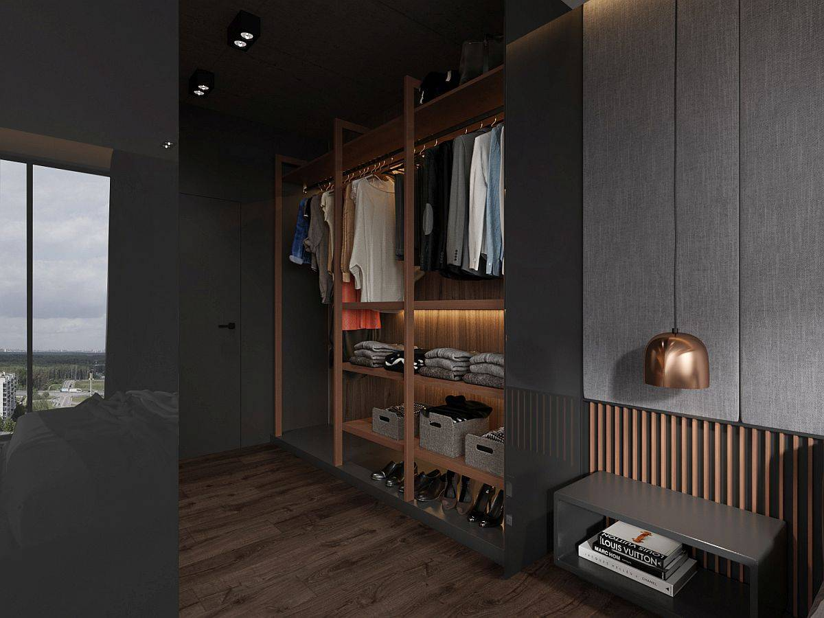 Modern-closet-for-a-bachelor-bedroom-with-lovely-lighting-and-smart-organization-92380