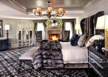 Polished-bedroom-with-fireplace-and-a-super-comfortanle-headboard-with-velvet-finish-86785-217x155