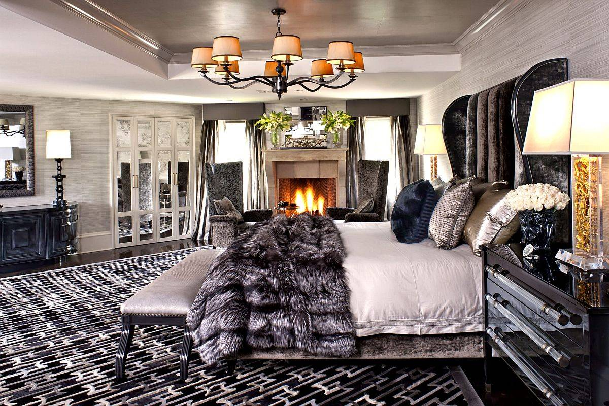 Polished-bedroom-with-fireplace-and-a-super-comfortanle-headboard-with-velvet-finish-86785