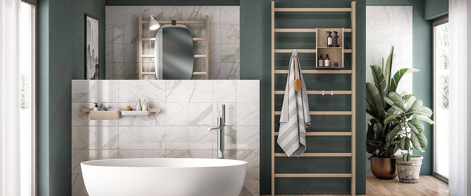 Polished-marble-finishes-white-bathtub-and-a-serene-teal-backdrop-for-the-elegant-contemporary-bathroom-27671