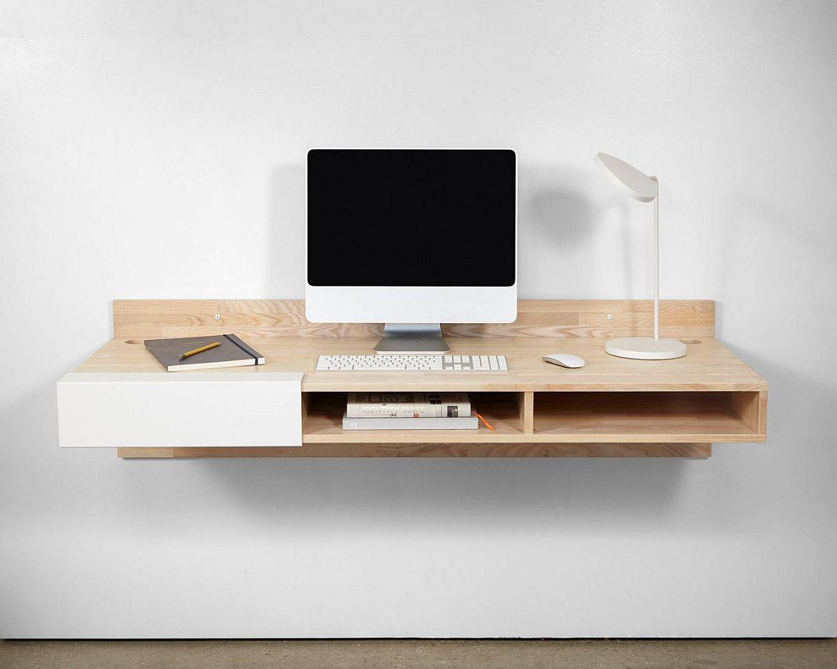 Sleek-and-minimal-floating-wooden-desk-with-cubbies-is-perfect-for-the-small-home-office-30399