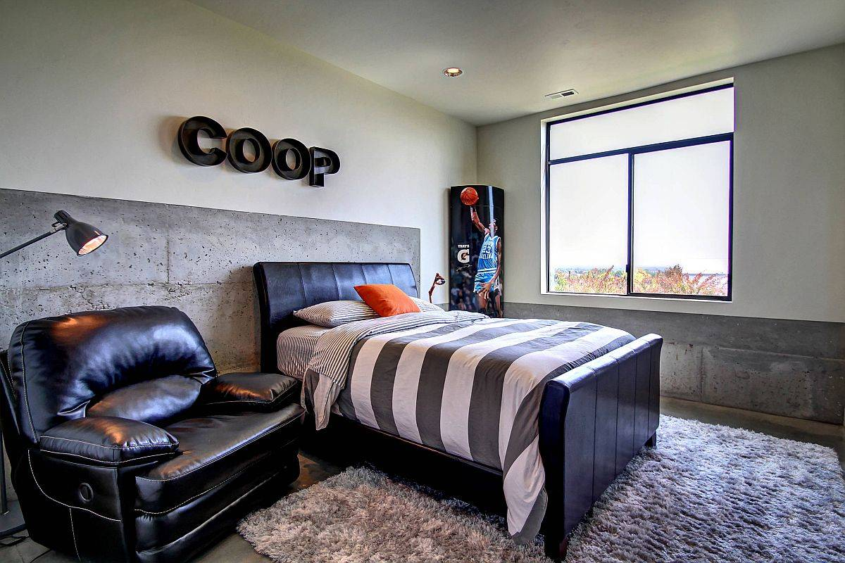 Smart and space-savvy industrial bedroom for the teen at your home!