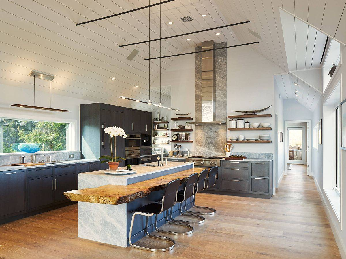 Spacious-New-York-kitchen-with-marble-island-that-is-complemented-by-a-fabulous-live-edge-breakfast-bar-13425