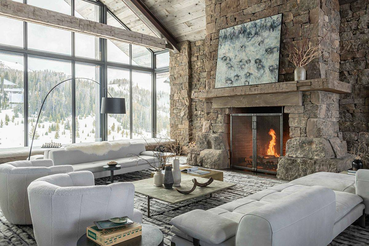 Stunningly-beautiful-rustic-living-room-with-stone-wall-and-fireplace-is-perfect-for-winter-living-80114