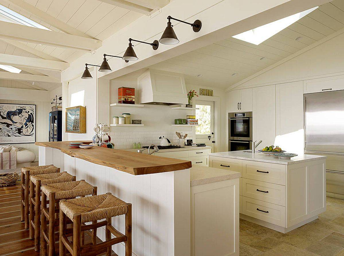 White-and-wood-kitchen-with-relaxing-coastal-style-and-a-breakfast-bar-crafted-from-live-edge-wood-27984