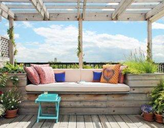 Built-in Outdoor Benches: Small Relaxing Escapes for Everyone