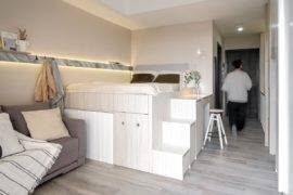 Awesome Multifunctional Platform Maximizes Space Inside 25 Sqm Micro-Apartment