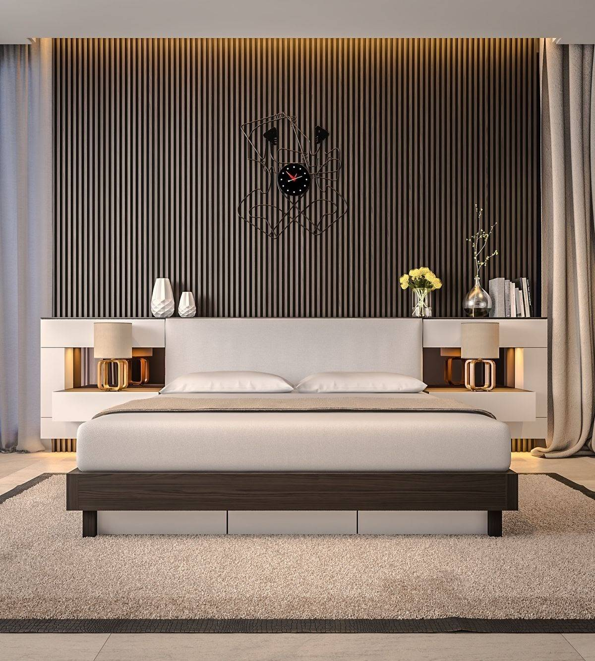 Wooden Slat Bedroom Wall Ideas You Can Try