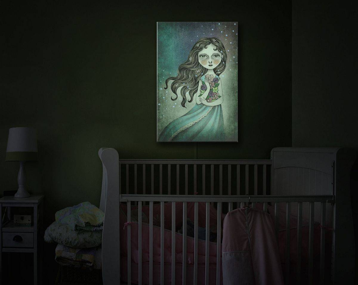 Gorgeous-illuminated-wall-art-piece-is-a-unique-addition-to-the-modern-nursery-52737