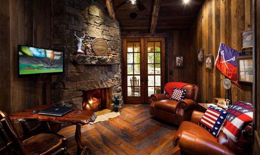 Small Rustic Home Offices: Making a Splash in Fall and Winter!