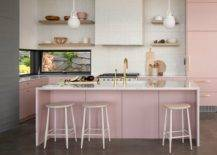 Light-pink-adds-glam-to-this-mdoern-eat-in-kitchen-with-a-view-of-the-outdoors-51314-217x155
