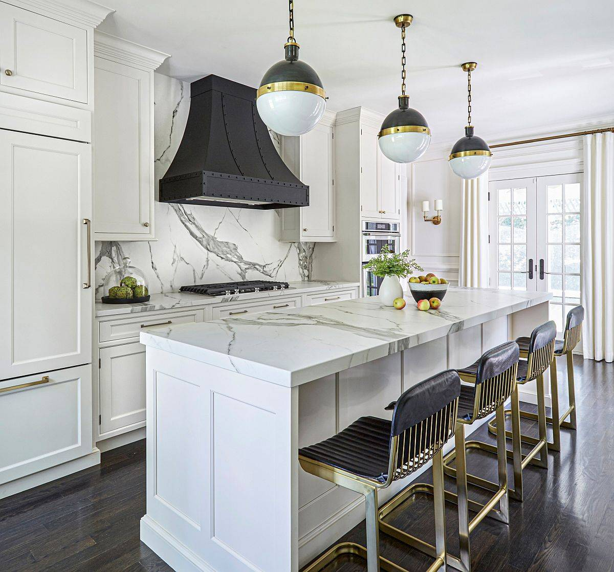 Range-and-hood-add-color-and-contrast-to-this-lovely-kitchen-in-white-12762
