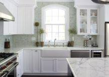 Traditional-kitchen-in-San-Francisco-with-a-black-and-white-color-scheme-along-with-marble-countertops-14449-217x155